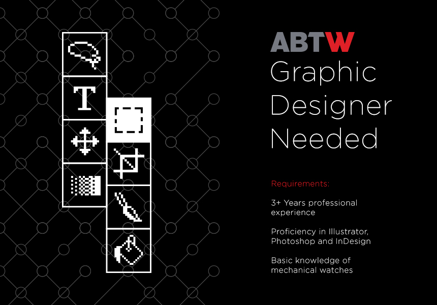 Graphic Designer ABTW Is The Largest Watch Blog In World So If Youre A Design Nerd And You Think Have Right Chops For Job