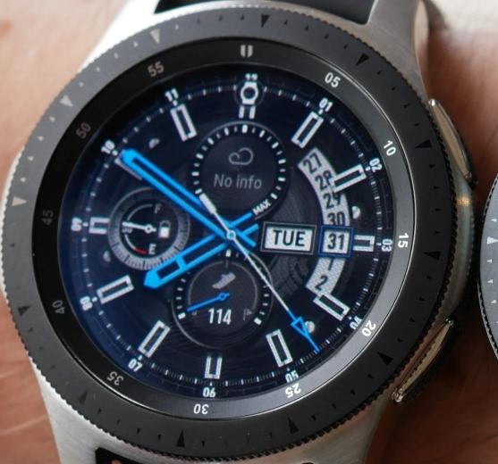 Watchface Galaxy Watch Silver 46mm Orange Blue