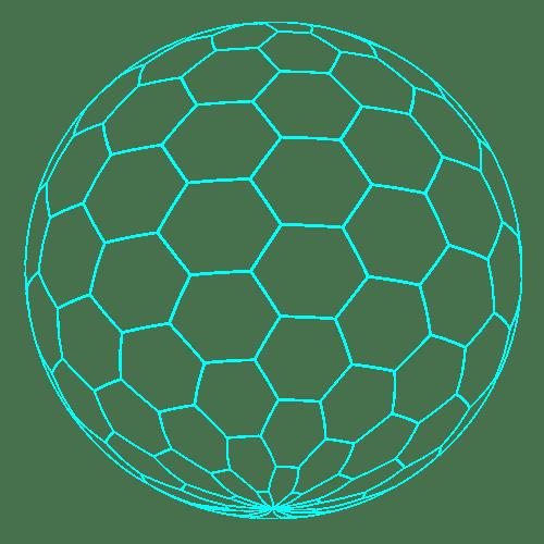 honeycomb-Neon-blue